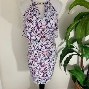 Guess Geometric Dress with chain detail